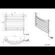 Aqualine elektromos törölközőszárító (ezüst)