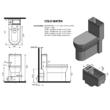 Aqualine HYGIE monoblokkos WC, alsó/hátsó kifolyasú, Wc ülőkével, mosdóval