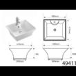 Aqualine mosdó (kerámia) 49,5x41,5x19,5 cm (49411)