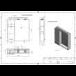 Aqualine tükrös szekrény LED világítással ZOJA (Jobb,60x60x14)