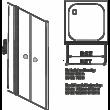 Aqualife HX-109T 2 ajtós zuhanyajtó, 90x185,átlátszó