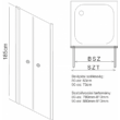 Aqualife HX-109T 2 ajtós zuhanyajtó, 80x185,átlátszó