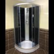 Aqualife Opal 508C Fekete zuhanykabin 90x90x205 cm Tető nélkül