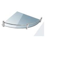 Roltechnik QUATRO 20 x 20 cm Sarok üvegpolc, átlátszó