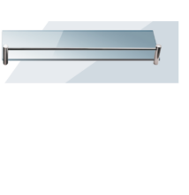 Roltechnik QUATRO 40 x 10 cm polc, 6 mm üvegből,satinato