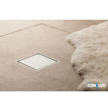 VIVA Pestan Confluo Standard Glass zuhanylefolyó fehér üveg 10x10 cm
