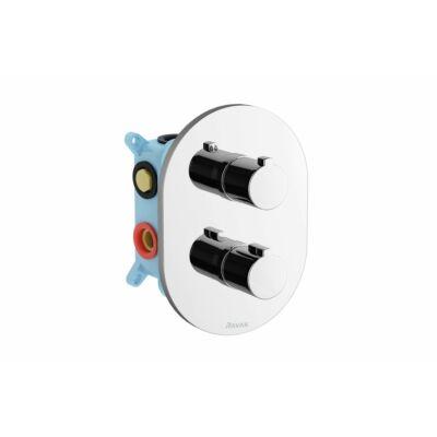 Ravak Chrome termosztátos falba süllyesztett csaptelep 3-utas R-box Multihoz(CR067)