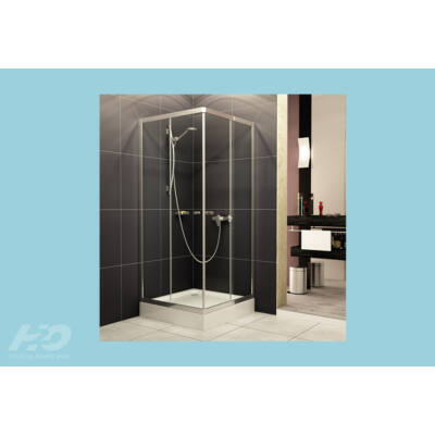 H2O  Zuhanykabin Projecta,szögletes (90x90x185) átlátszó üveges