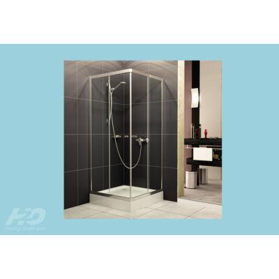 H2O  Zuhanykabin Projecta,szögletes (80x80x185) áttetsző üveges