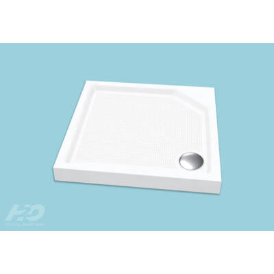 H2O  Zénó zuhanytálca szifonnal,előlappal (80x80x17,szögletes)