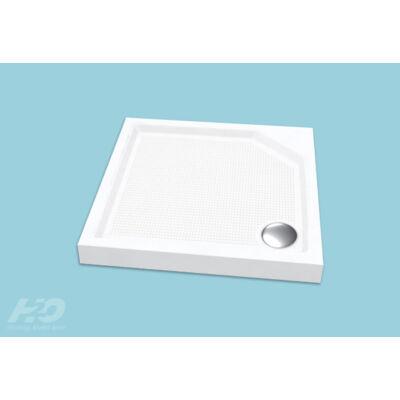 H2O  Zénó SLIM zuhanytálca szifonnal,előlappal (90x90x8,5,szögletes)