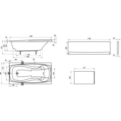 Ravak Előlap XXL (190x95) kádhoz + panelkit