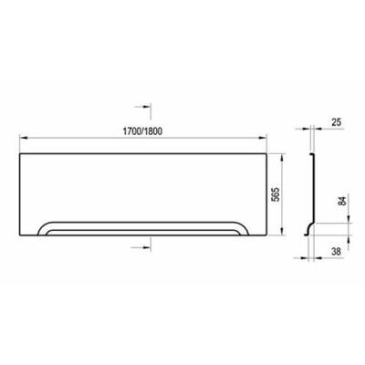 Ravak Előlap U 170 (Classic, 10°, Campanulla II, Formy 01, Vanda II) + panelkit