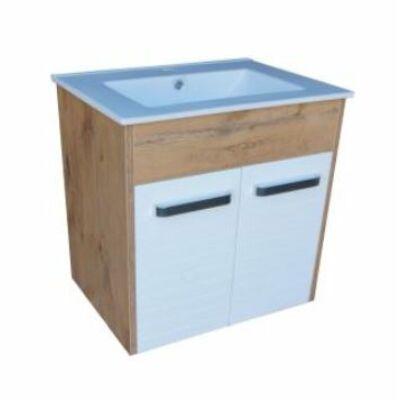 VIVA Orient  75 fali függesztett fürdőszobabútor Lava mosdóval 76X46 cm (KONOR75)