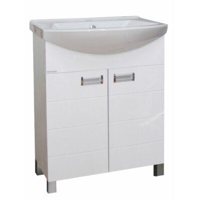 VIVA Szquare 65 fürdőszobabútor Sanovit Zenon 6065 mosdóval 65 cm (S650)