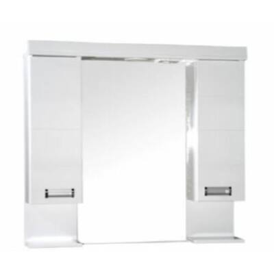 VIVA Szquare 85 tükrös szekrény dupla szekrénnyel led világítással 85 cm