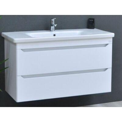 VIVA TMP Sharp 100 fali fürdőszobabútor fehér Sanovit Soft 101 mosdóval 100x52x46