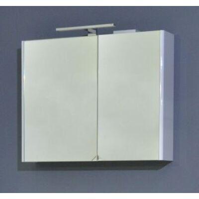 VIVA TMP Sharp 75 tükrös szekrény fehér led világítással 75x65x16