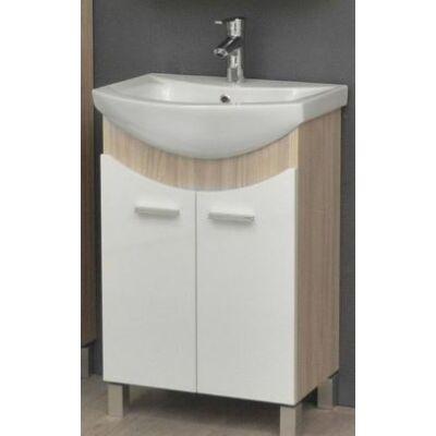 VIVA TMP ZX Sonoma 55 álló fürdőszobabútor Sanovit Zenon mosdóval 55x85x44