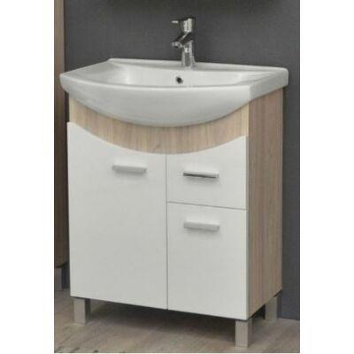 VIVA TMP ZX Sonoma 65 álló fürdőszobabútor Sanovit Zenon mosdóval 65x85x44