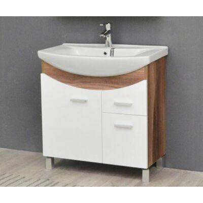 VIVA TMP ZX Sonoma 75 álló fürdőszobabútor Sanovit Zenon mosdóval 75x85x44