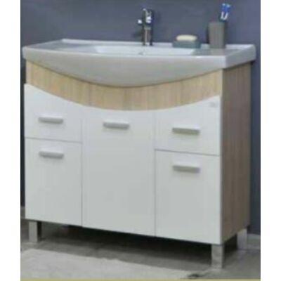 VIVA TMP ZX Sonoma 95 álló fürdőszobabútor Sanovit Zenon mosdóval 95x85x44
