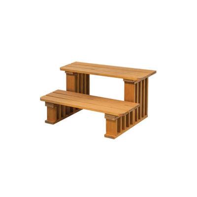 VitalSpa Thermowood fa lépcső
