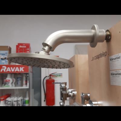 Hansgrohe Axor Terrano fejzuhany és zuhanykar Satinox színekben