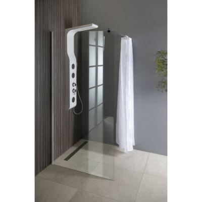 Aqualine  Walk-In fix zuhanyfal (100x190 cm)Áttetsző