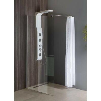 Aqualine  Walk-In fix zuhanyfal (90x190 cm)Áttetsző