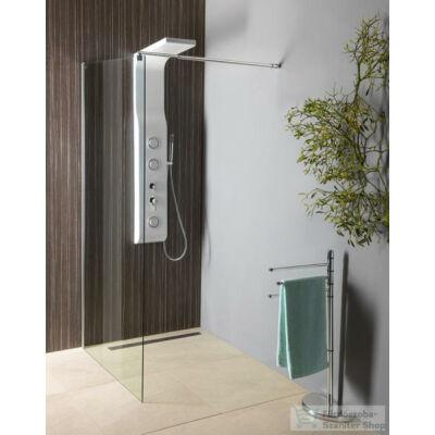 Aqualine  Walk-In fix zuhanyfal (80x190 cm)Áttetsző