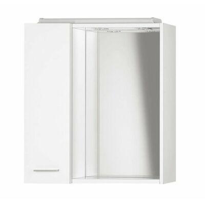 Aqualine tükrös szekrény LED világítással ZOJA (Bal,60x60x14)