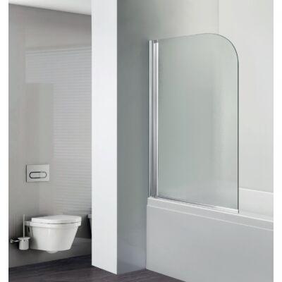 Aqualife HX-112C kádparaván,egyrészes 75x130 cm, chrome profil átlátszó üveg ,BALOS