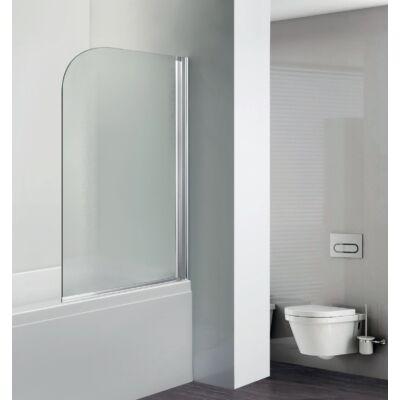 Aqualife HX-112C kádparaván,egyrészes 75x130 cm, chrome profil matt üveg,JOBBOS