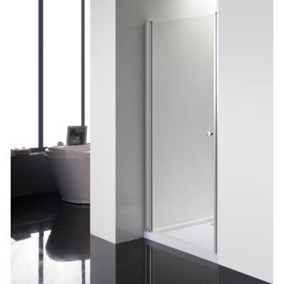Aqualife HX-109T nyíló zuhanyajtó, 90x185 chrome profil átlátszó üveg