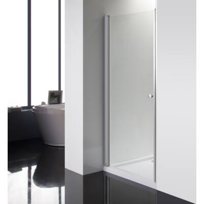 Aqualife HX-109T nyíló zuhanyajtó, 80x190, króm profil átlátszó üveg