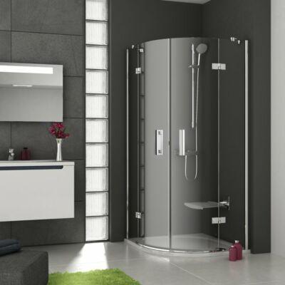 Ravak  Smartline SMSKK4-80 négyrészes, negyedköríves zuhanykabin