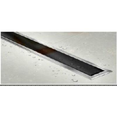 "VIVA Zuhanyfolyóka CONFLUO ""PREMIUM LINE 850 BLACK GLASS    85 cm"