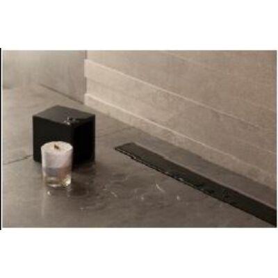 VIVA Pestan Zuhanyfolyóka CONFLUO FRAMLESS LINE BLACK GLASS 115 cm