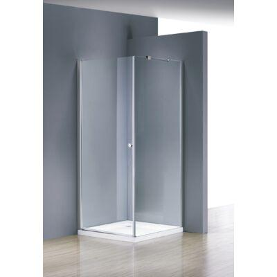 Aqualife HX-VARIO 109 nyíló zuhanykabin, 80x90 chrome profil átlátszó üveg