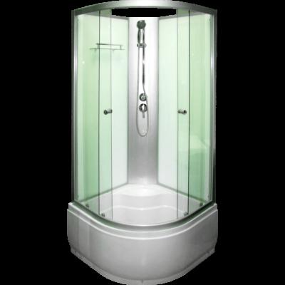 Aqualife Opal 509 Fehér mélytálcás zuhanykabin (90x90x 212cm)