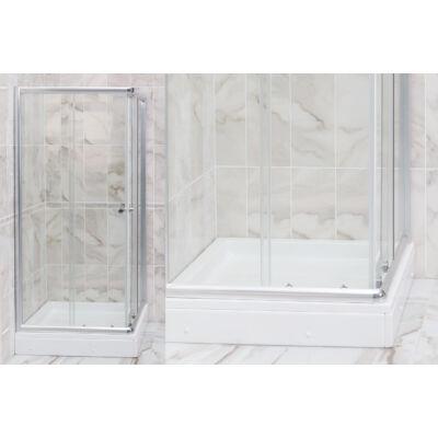 VIVA Favorit STEP zuhanykabin (80x80x180cm, szögletes) L100
