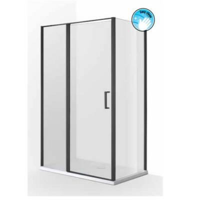 Wellis  zuhanykabin TRITON fekete (szögletes)