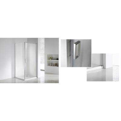 Wellis QUADRUM zuhanykabin (nyílóajtó + fix oldalfal) 90x90cm