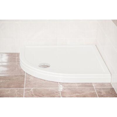 VIVA Favorit ULTRA (slim) zuhanytálca 8cm (90x90, íves) - szifonnal