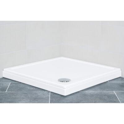 VIVA Favorit ULTRA (slim) zuhanytálca 8 cm (80 x 80 / 8 cm, szögletes) - zuhanyszifonnal
